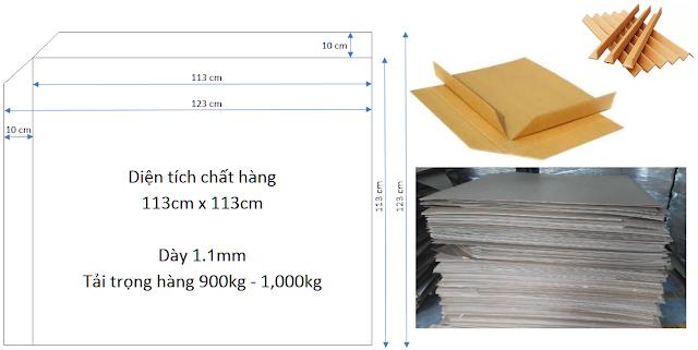 Tấm slip sheet giấy chứa 1200 kg