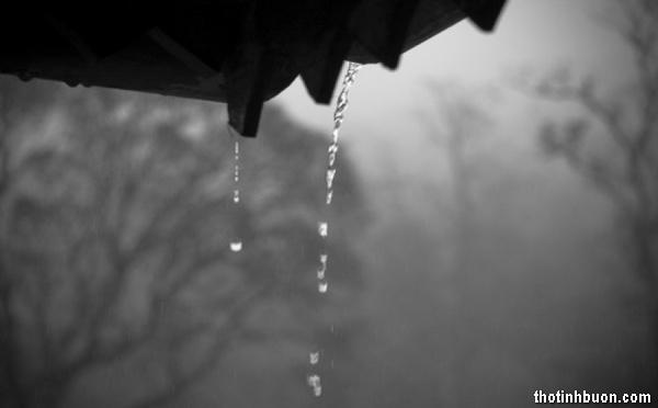 Thơ mưa buồn nhớ Anh, thơ nhớ người yêu khi trời đang mưa gió