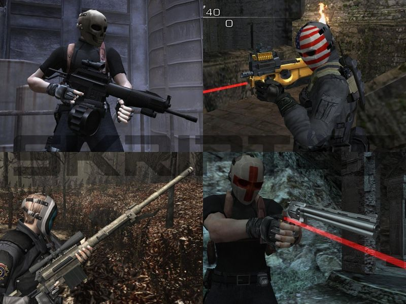 Resident Evil 4 Point Blank Weapons, Masks Pack