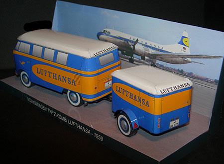 1959 Volkswagen Type 2 Lufthansa Kombi Papercraft