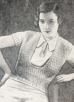 30s ladies crochet vest