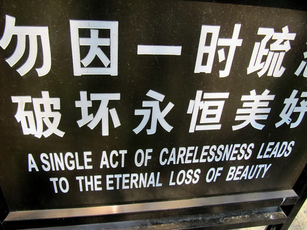 A single act of carelessness leads to the eternal loss of beauty.