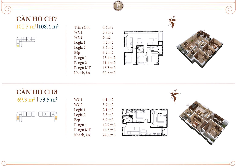Chi tiết căn hộ 07 08 Roman Plaza Hải Phát
