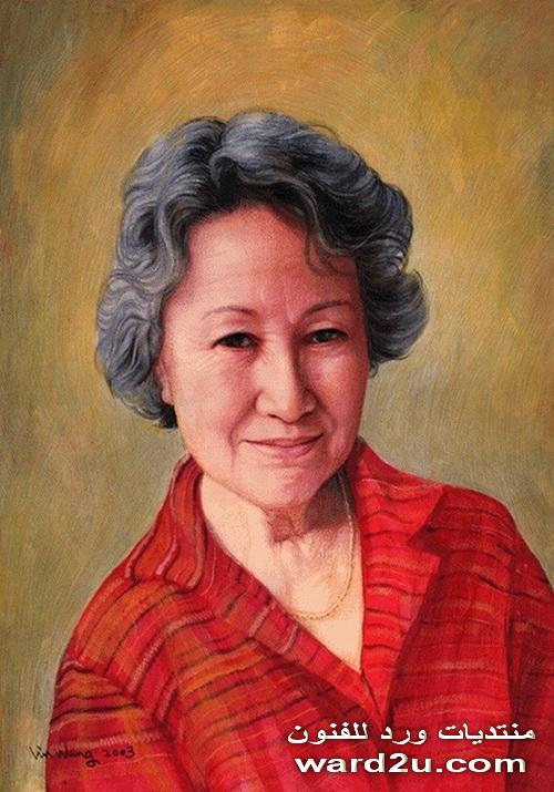 بورتريهات للفنان Lin Wang مع الشرح