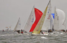 J/80s sailing in French regatta at Crouesty Arzon