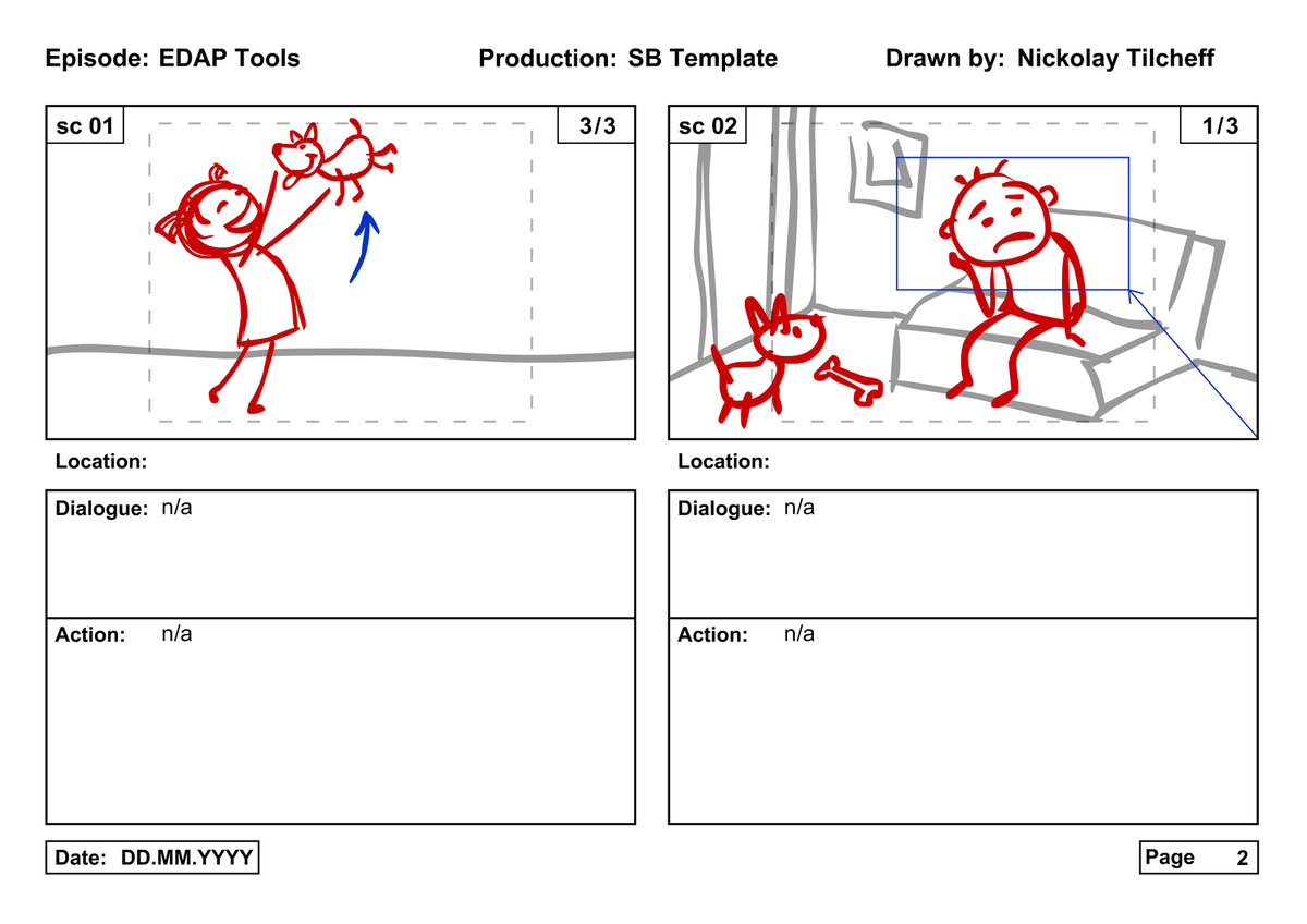 Animation Storyboard Template Tools storyboard template
