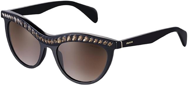 33a7edb04fa Rihanna began her look with a pair of Fall Winter 2012-2013 cat eye sunnies  from Prada. Prada Fall Winter 2012-2013 Women s Eyewear collection  expresses ...