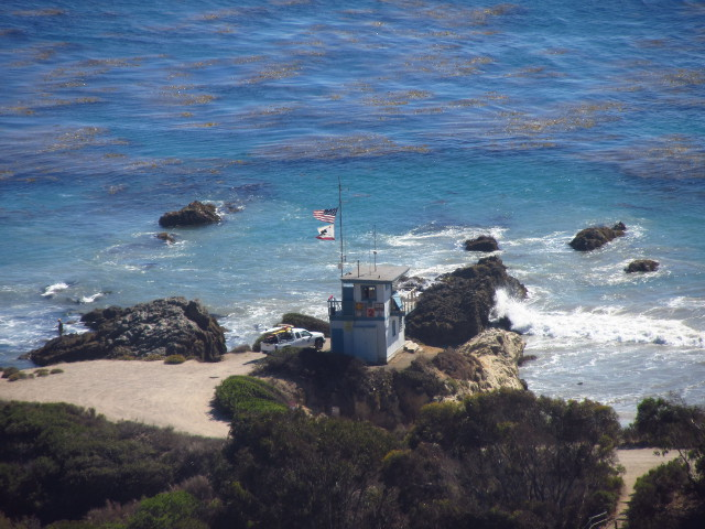 life guard station on a cliff