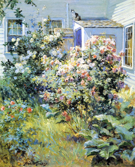 Abbott Fuller Graves - Backyard with a Cat