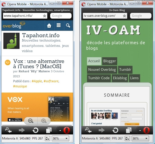 Version mobile vs version responsive