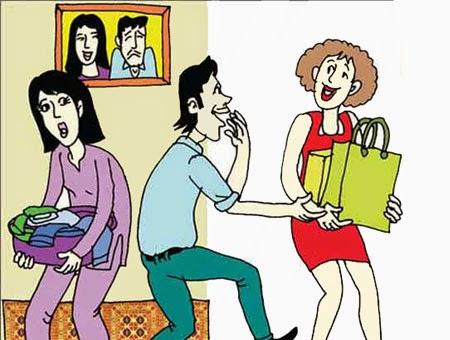 Thơ chế hài hước: Vợ và Bồ (lục bát)