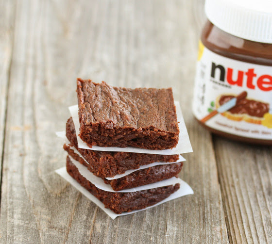 Eggless Nutella Brownies