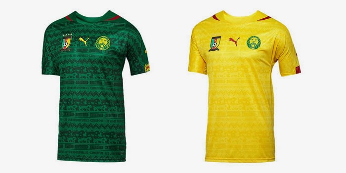Puma Cameroon 2014 World Cup Home Away Shirts