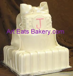 Wedding Cake Bakery 77 New Romantic custom three tier
