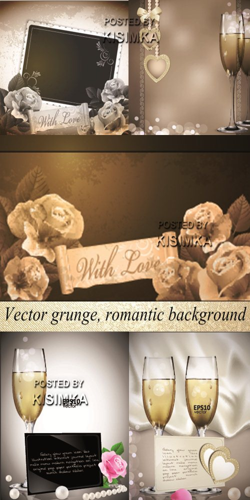 Stock: Vector grunge, romantic background