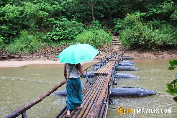 river kwai jungle rafts floatel, mon tribe thailand