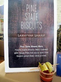 Portland Monthly's Country Brunch 2013, Bloody Mary Smackdown, Samayyah Sharif of Pine State Biscuits presented a housemade bloody Mary dressed with Texas Pete hot sauce and Pine State's proprietary okra pickle