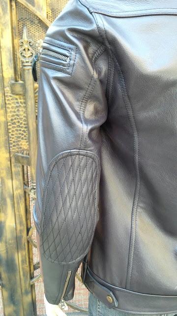 áo khoác da nam thời trang cao cấp có đệm sau tay