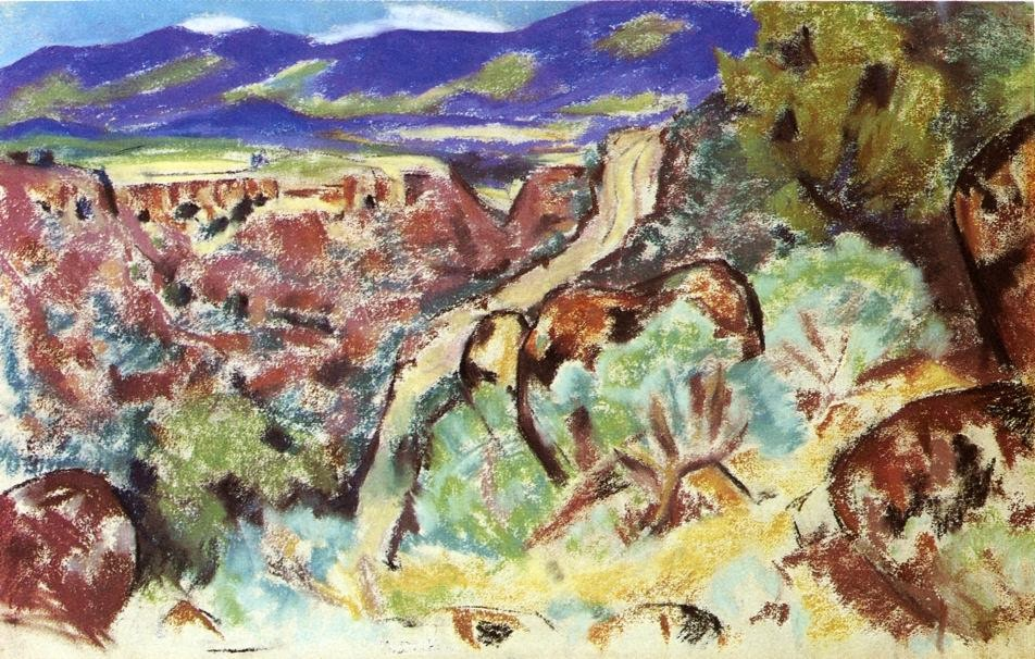 Marsden Hartley - Arroyo Hondo New Mexico