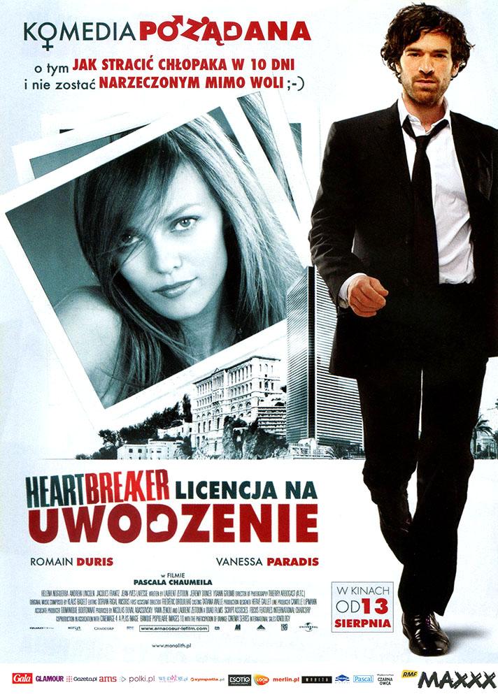 Ulotka filmu 'Heartbreaker. Licencja Na Uwodzenie (przód)'