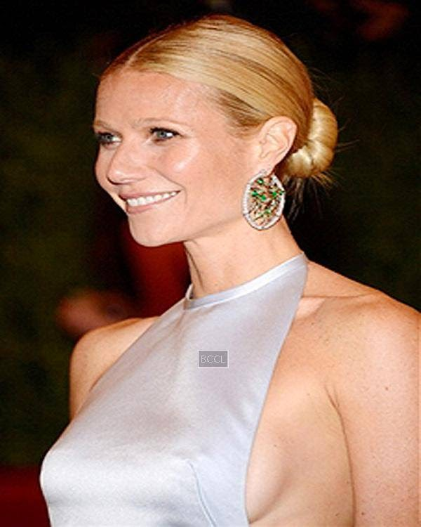Gwyneth Paltrow was caught without a bra during the Costume Institute Benefit at The Metropolitan Museum of Art in New York.