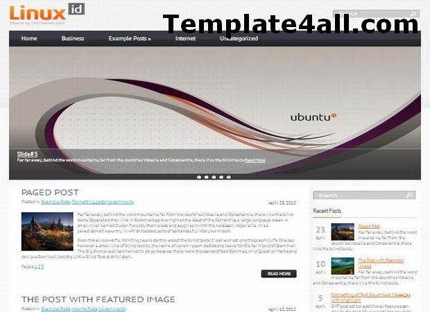 Linux Business Responsive Wordpress Theme