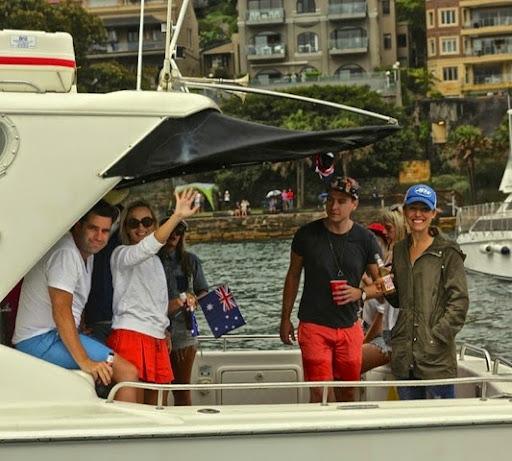 The launch next door. Celebrating Australia Day in Sydney Harbour