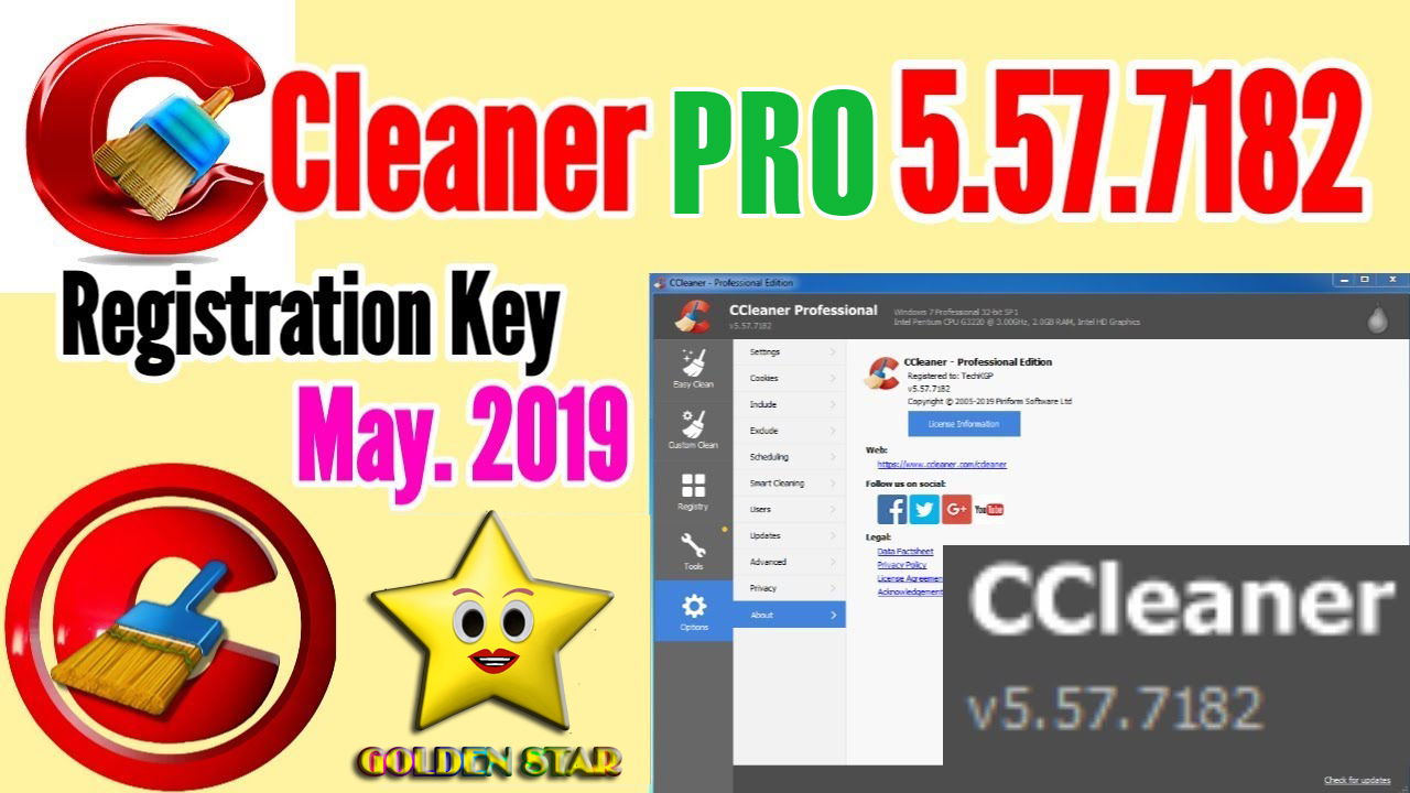 CCleaner Pro 5.57.7182 Full Version With License Key 2019 (100% Working)
