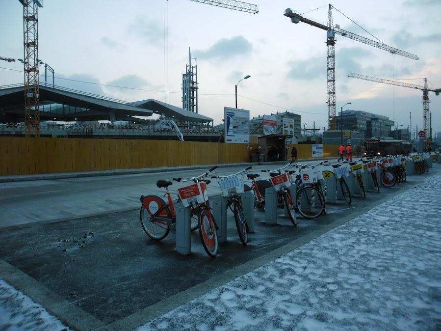 Citybikes pri Hauptbahnhofe