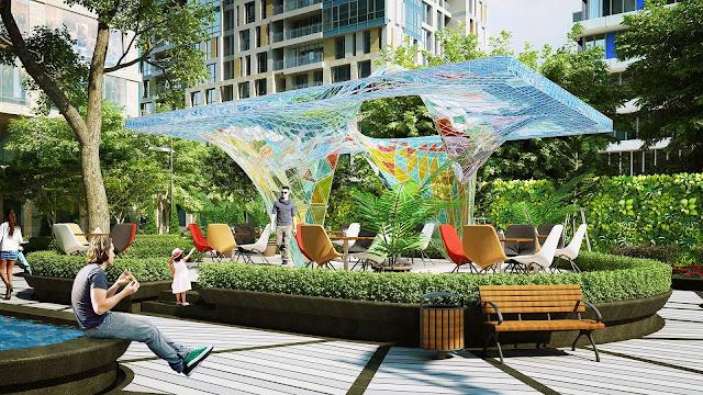 Không gian xanh chung cư Tabudec