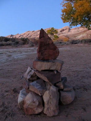 A cairn that Darren said he'd left for me the previous weekend