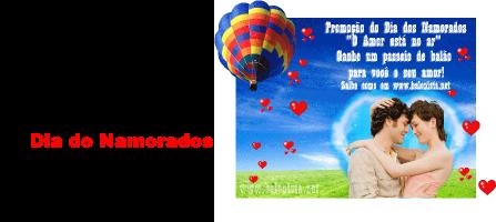 Voo de Balão no Dia dos Namorados Grátis