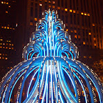 The Rock Center 'Electric fountain' in all its tacky Vegas glory.