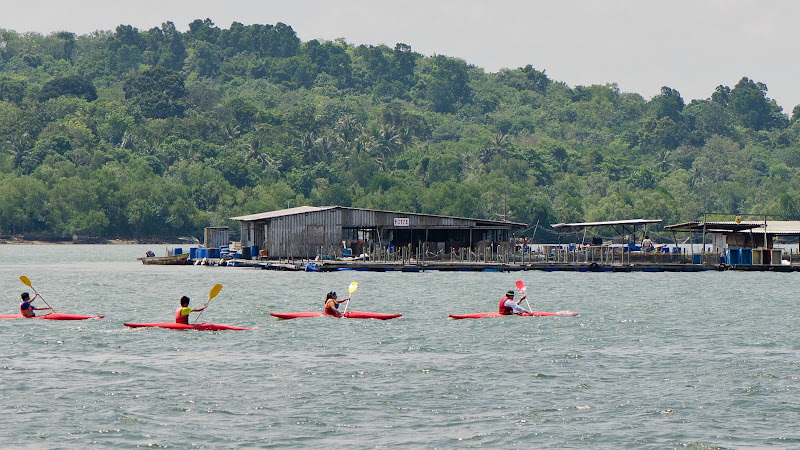 fish farms off Pulau Ubin
