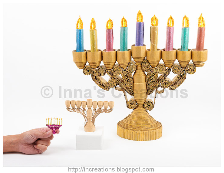 In the last photograph you can see how huge the giant Hanukkah Menorah ...