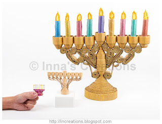 Hanukkah Menorahs compared