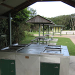 Well sheltered BBQ and picnic area at the beach end