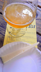 Portland Beer and Cheese Festival 2014, a pairing of beer and cheese, here Upright Brewery Black Lime Saison with Central Coast – Goat Gouda – goat – California