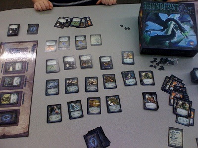 Thunderstone Dragonspire game in play