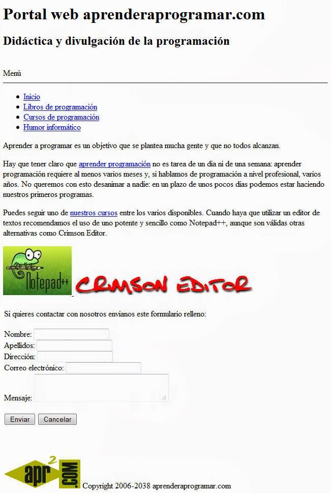 maquetacion HTML