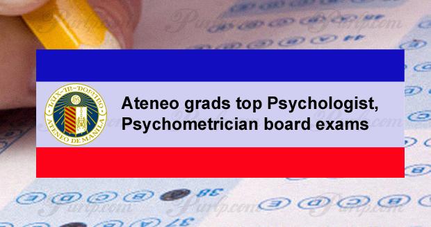 ateneo grads top prc psychologist, psychometrician exam