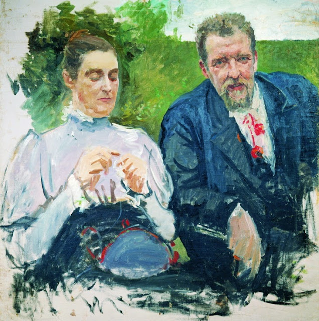 Andrei Ryabushkin - Portrait of I. F. Tyumenev with his wife
