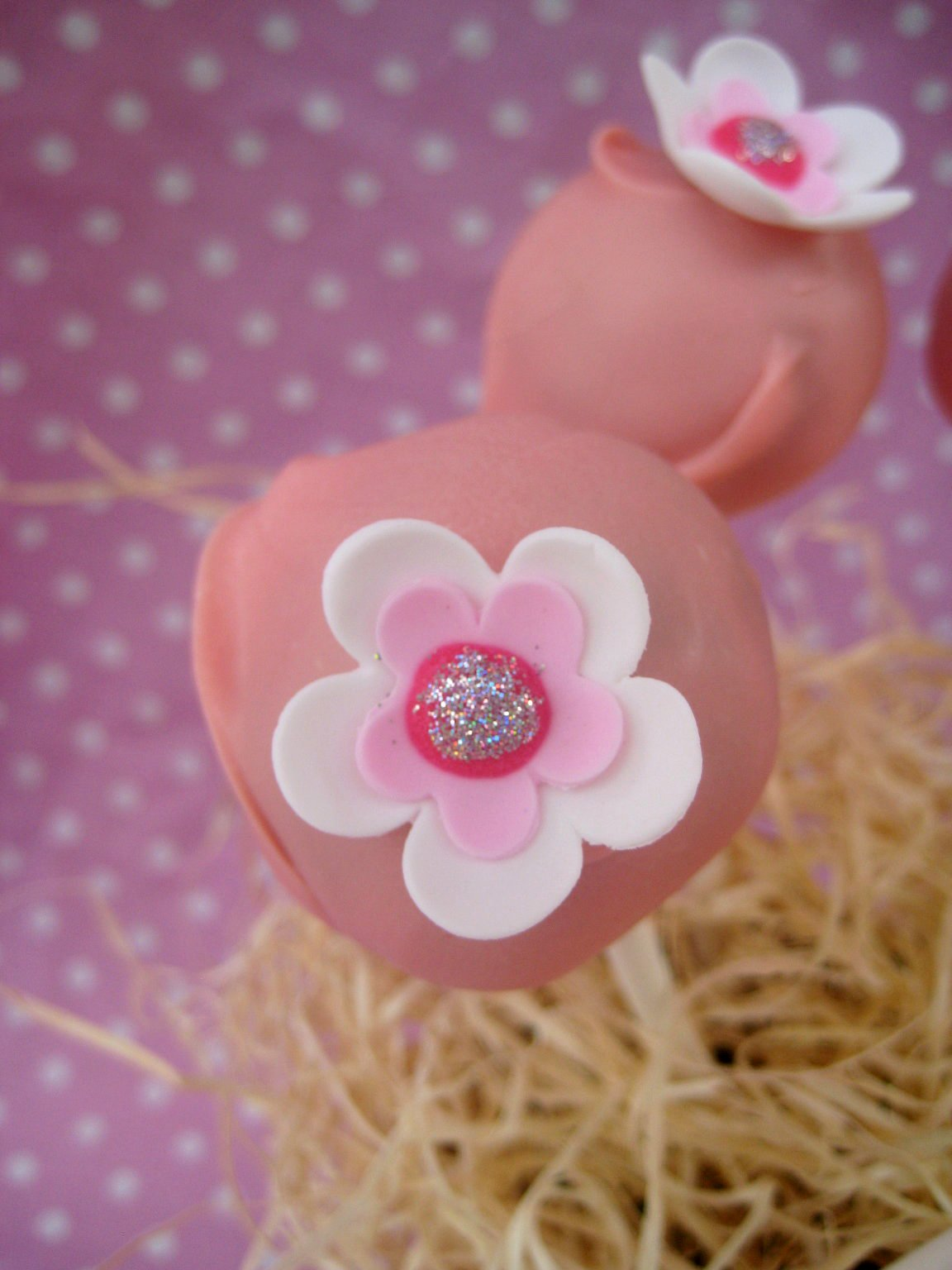 Bubble And Sweet Pretty Pink Flower Musk Cake Pops