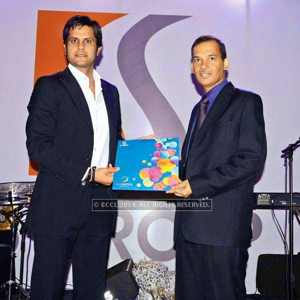 Ashok Singh Jaunapuria (L) and Manoj Shukla  during the launch event of SS Group's Omnia hosted at a hotel in Gurgaon.