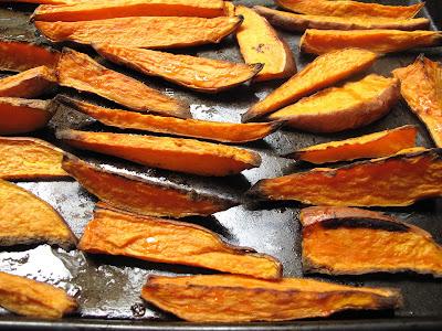 Baked Sweet Potato Fries with a Coconut Glaze
