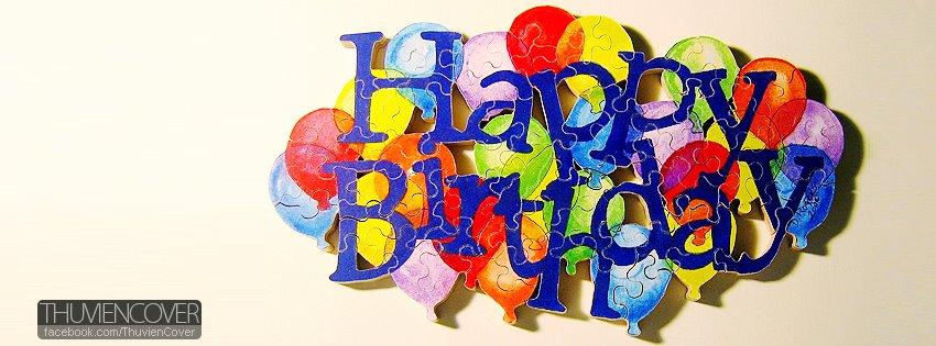 Ảnh bìa Happy birthday cho Facebook