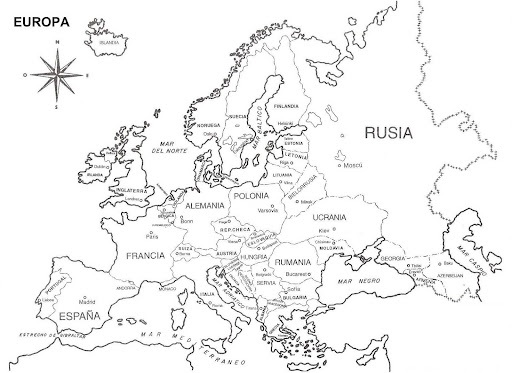 Worksheet. EUROPA  MAPAS DE