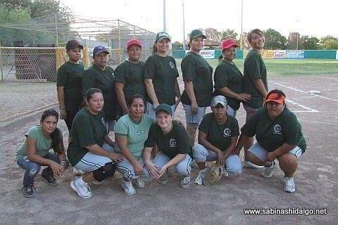 Equipo Vallecillo A del torneo de softbol femenil