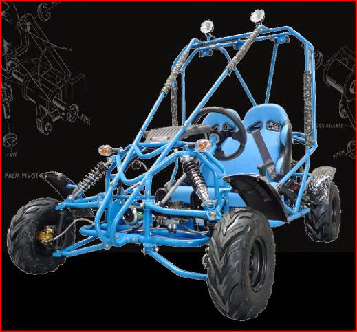 125cc Kandi Kids Twin Seater Offroad Dune Buggy Blue