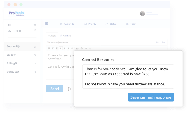 Create Canned Responses in Help Desk Software